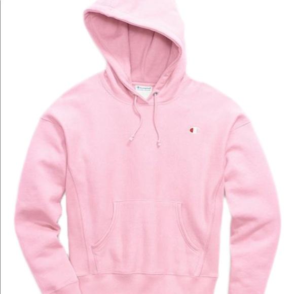 pink champion sweatshirt